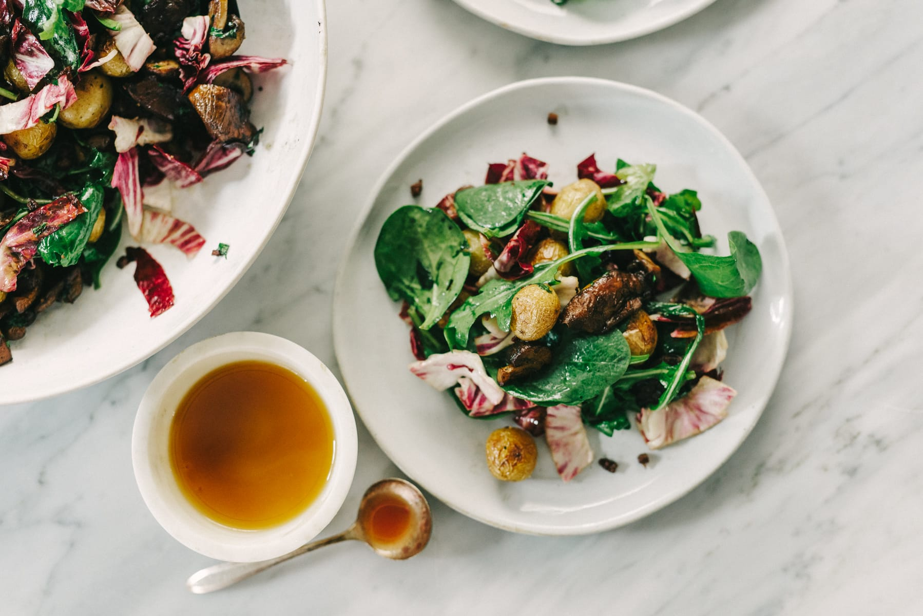 Warm Mushroom Salad with Potato and Wilted Greens | Our ...