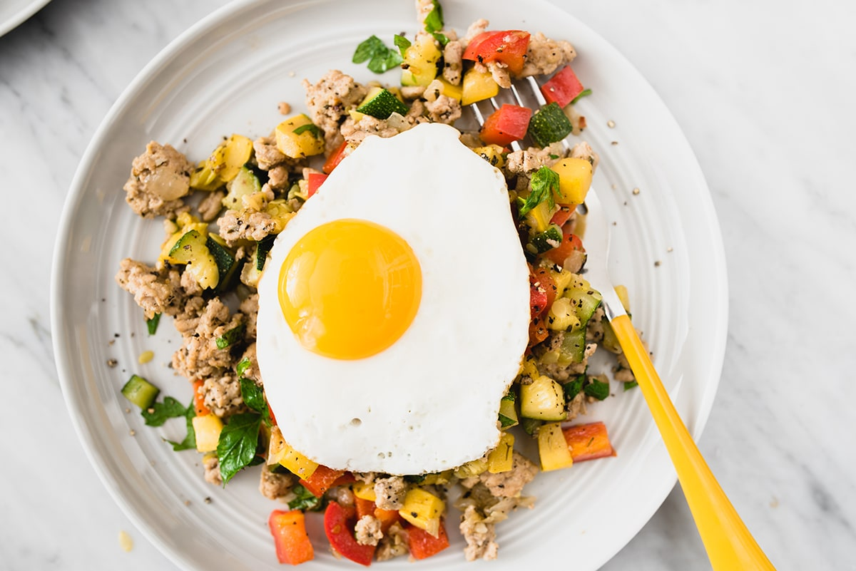 Paleo Ground Turkey Hash with Squash and Peppers | Our ...