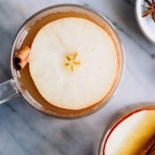 Apple Cider Hot Toddy with Maple Syrup