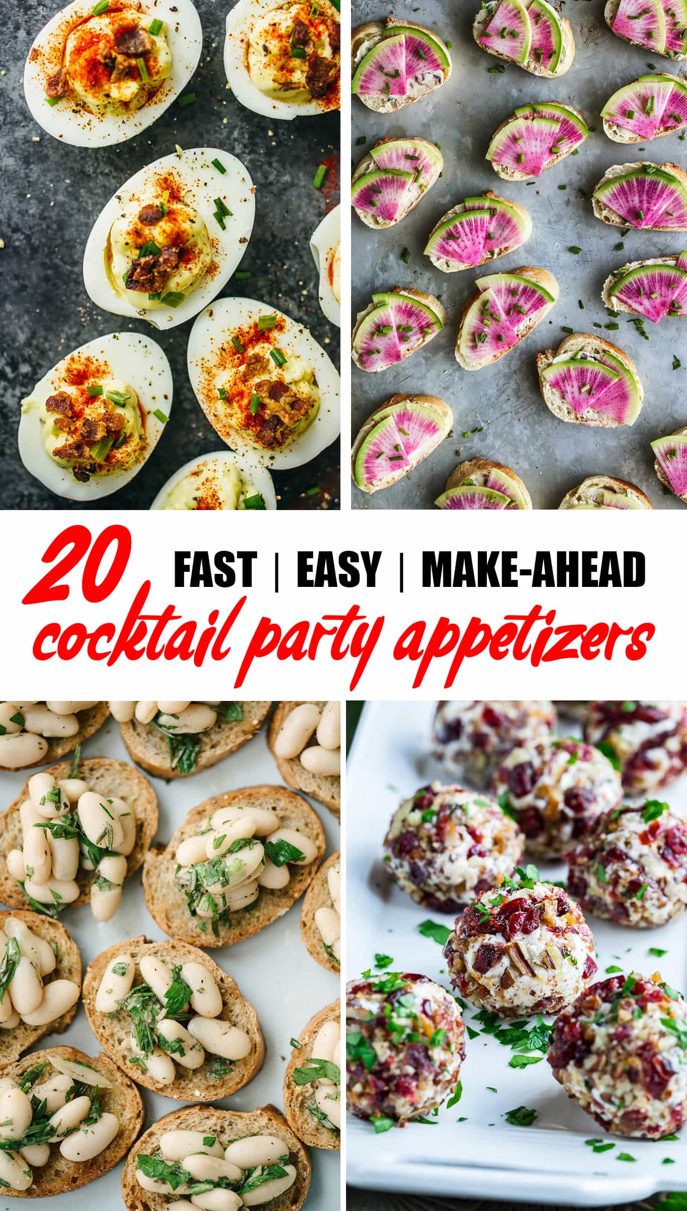 Holiday cocktail party season is just around the corner. Make your prep that much easier with one of these easy, fast, make-ahead cocktail party appetizers and hors d'oeuvres! #holidayparty #cocktailparty #appetizer #horsdoeuvres #recipe