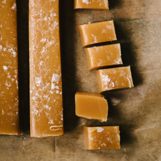 Soft and Chewy Sea Salted Caramels