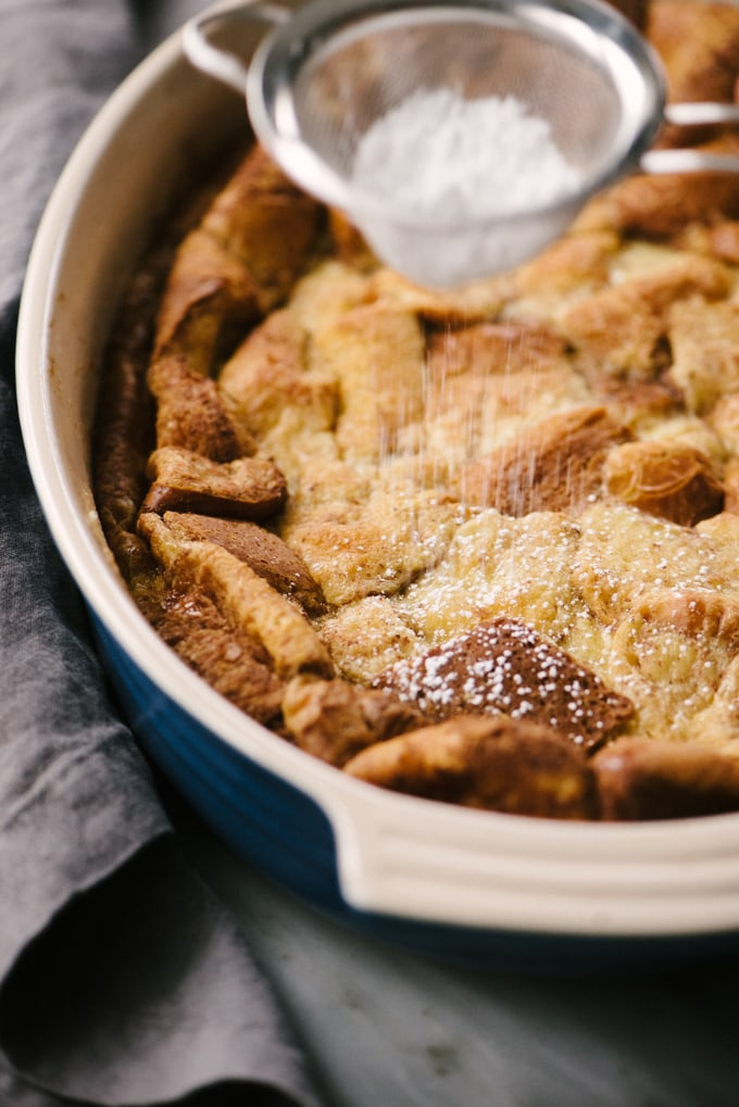 Make-Ahead French Toast Bread Pudding | Our Salty Kitchen