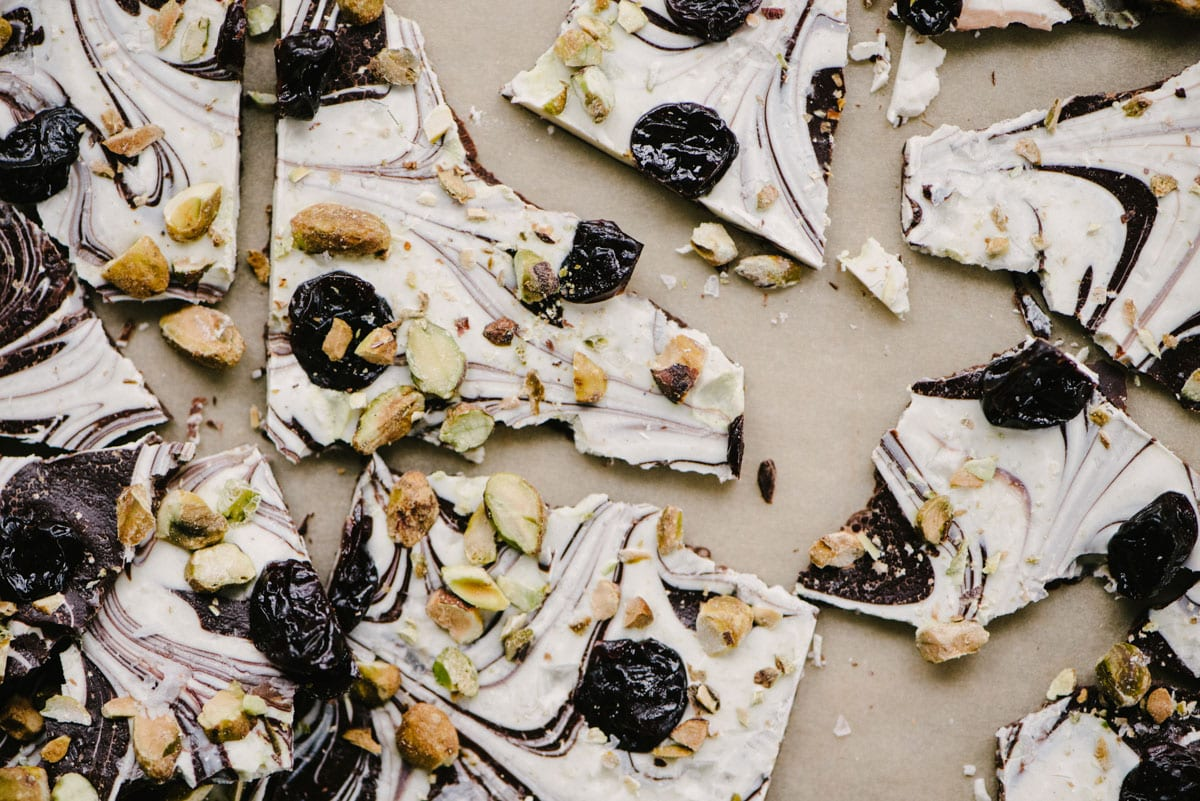 Swirled Chocolate Bark with Cherries and Pistachios | Our ...