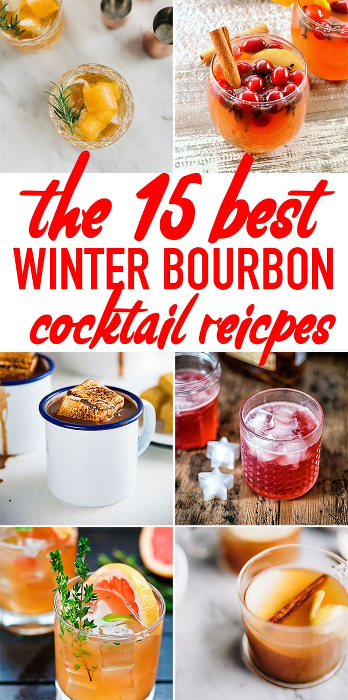 These winter bourbon cocktail recipes are warm and cozy, and a delicious way to sip yourself through the last 6 weeks of winter! #bourbon #winter #cocktail #bourboncocktail #whiskey #recipe