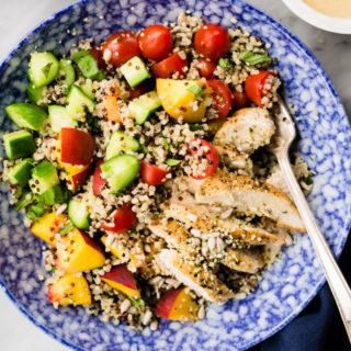 Summer Quinoa Salad with Sunbutter Sauce