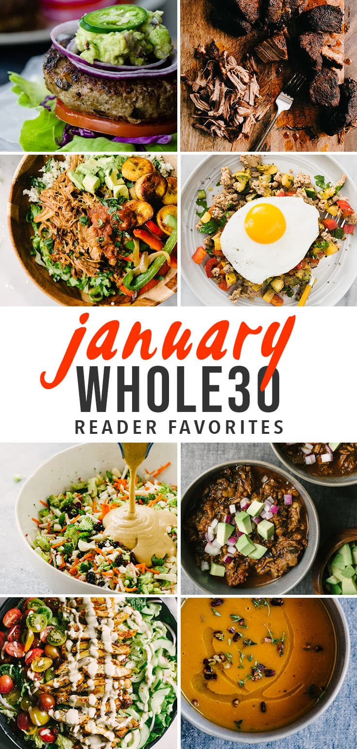 Are you ready to rock your Whole30 January challenge? Click through for our tried and true Whole30 recipes. Easy, approachable, and delicious Whole30 recipes for breakfast, lunch, dinner, and meal prep. Discover recipes the entire family will enjoy - even kids and those not on the program! Let's rock the January Whole30 together! #whole30 #whole30recipes