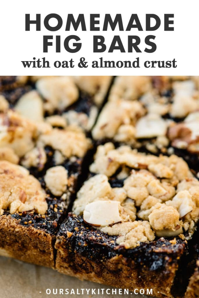 Pinterest image for easy homemade fig bar recipe.