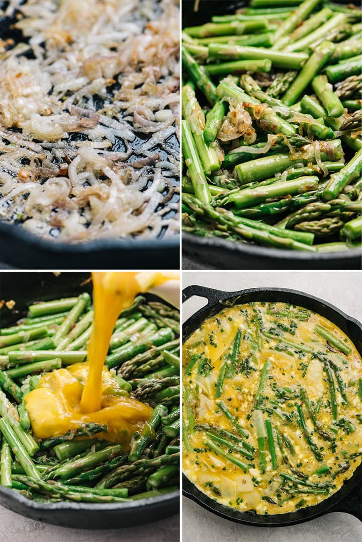 Four process shots to show how to make the recipe