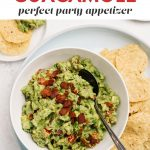 Pinterest image for a bacon guacamole recipe.