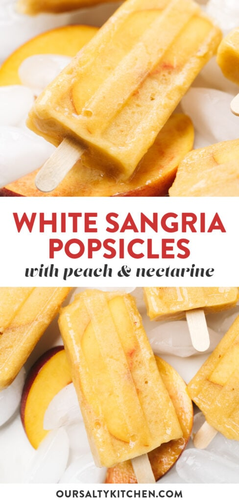 Pinterest collage for a sangria popsicle recipe.