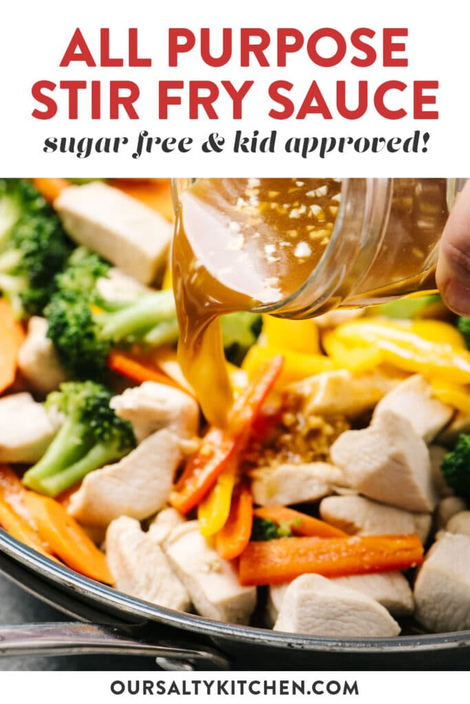 Pinterest image for a recipe for all purpose stir fry sauce.