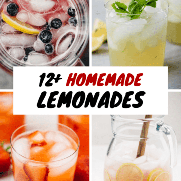 A collage of homemade lemonade recipes.